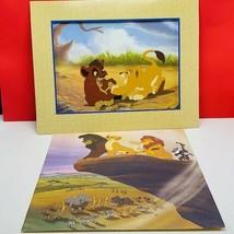 Walt Disney Store lithograph poster print litho 14X11 Lion King Simba Ma... - $17.25
