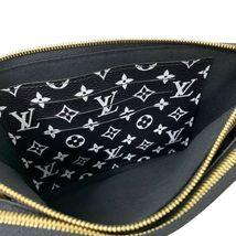 NEW Louis Vuitton Pochette Double Zip Black Jungle Giant Monogram Crossbody Bag image 10