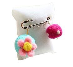 Cute Cartoon Animal Wool Felt Brooch Pin Clothing Accessories, Flower