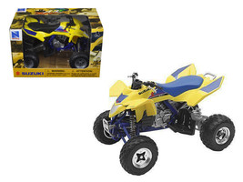 Suzuki Quad Racer R450 Yellow/Blue ATV Motorcycle 1/12 Diecast Model by ... - $22.42