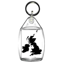 keyring double sided united kingdom silhouette keychain