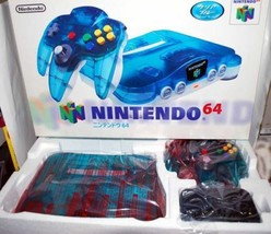 NINTENDO 64 Game console set  Clear blue ver. TV game Controller New D47 - $537.19