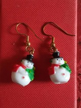 xmas sale xmas snowman earrings, ideal gift novelty earrings new vintage