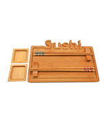 9 Piece Handmade Sushi Serving Platter Set // With its Presentation Boar... - $45.00