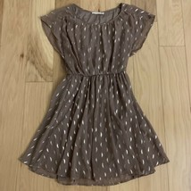 Lush Women's Dress Size S Brown Gold Cap Sleeve  - $19.79