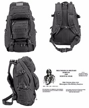 Tactical Readiness MOLLE BackPack With Mag Storage BLK + FREE SURVIVAL B... - $41.70