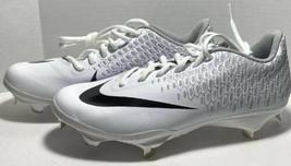 Nike Lunar Vapor Ultrafly Elite 2 Baseball Cleats White AO7946 101 Mens 7 - $38.69