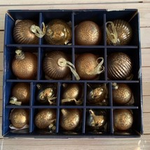 New Pewter & Pine Kugel Style Mercury Glass Christmas Ornaments Bronze S... - $44.54