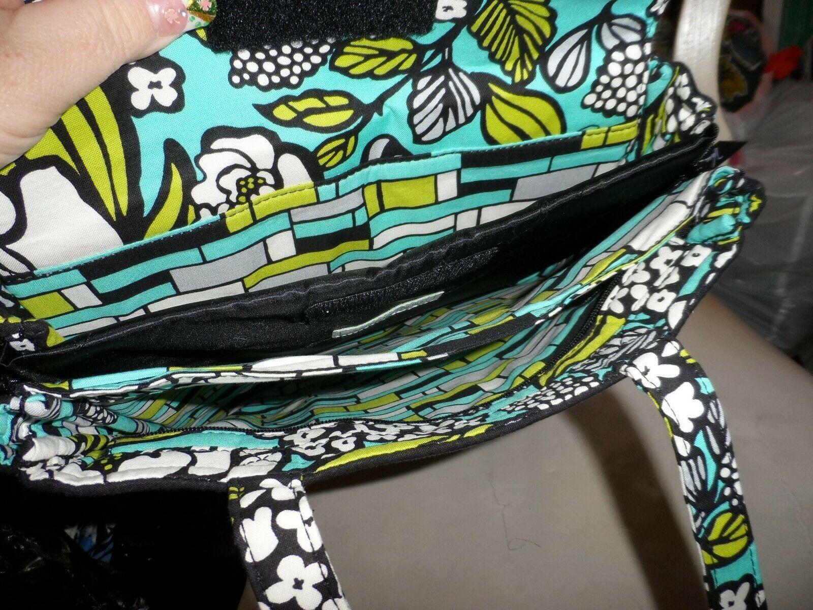 Vera Bradley laptop TRavel Tote In Island Blooms EUC image 3
