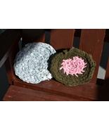 "Handmade Scrubbies (Dishcloth & Potholders) Brown/Blue 1/2"" RRM105 - $2.69"