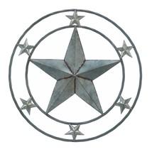 "*18364B  Galvanized 24"" Round Star Art Sclupture Wall Decor - $29.65"