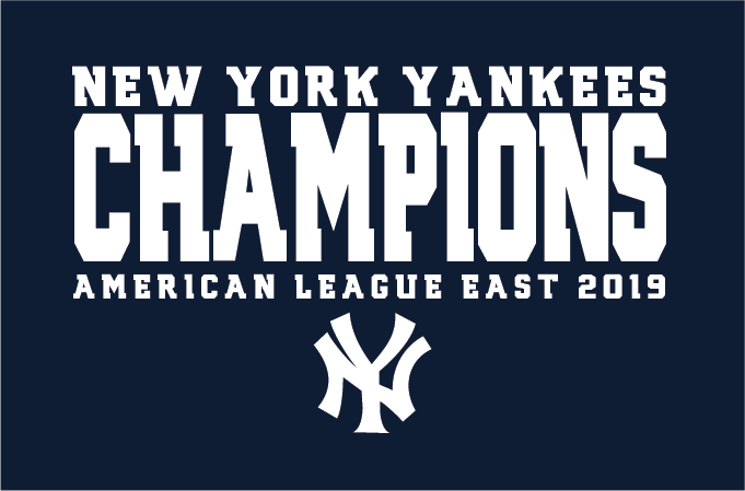 Yankees 2019 AL East Division Champions Long Sleeve T-Shirt