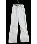 Landau White SM Reversible Drawstring Straight Leg Unisex Scrub Pant 760... - $16.46