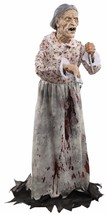 Granny Bates Halloween Prop Lifesize 5 feet Poseable Haunted House Decor... - $94.90