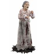 Granny Bates Halloween Prop Lifesize 5 feet Poseable Haunted House Decor... - $94.90