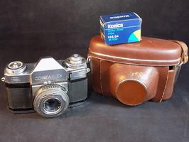 CARL ZEISS IKON CONTAFLEX TESSAR 35mm CAMERA 1:2.8 F=45mm w/ film, case,... - $97.77