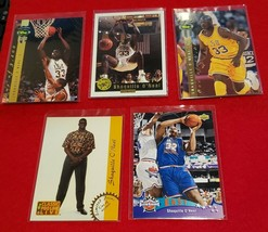 SHAQUILLE O'NEAL - 5 Card Lot - Classic Gold, Four Sport Gold Pro Line Live, etc - $49.95