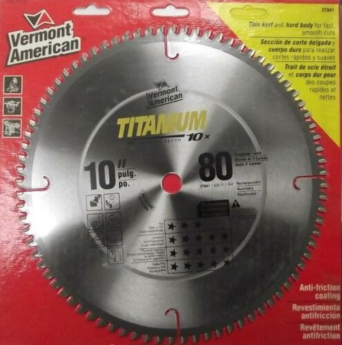 """Vermont American 27841 5/8"""" Arbor 10"""" x 80T ATB Titanium Circular Saw Blade - $23.76"""
