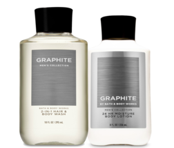 Bath & Body Works Graphite For Men Body Lotion & 2-in-1 Hair + Body Wash Duo Set - $32.95