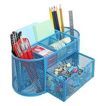 8 Compartment Metal Wire Desktop Office School Supplies Organizer Caddy ... - $18.70