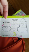 Beyond a Bag 3 Bags in One Backpack, Sling and Duffel Bag NWT image 8