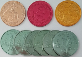 MARDI GRAS 1981 New Orleans Aluminum Tokens Lot of 9 - $11.95