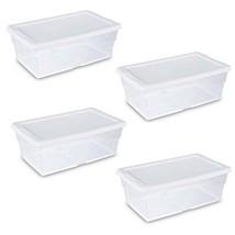 """Sterilite Storage Box 13.5"""" X 8.3"""" X 4.8"""", 6 Qt. Clear - Pack of 4 - $17.30"""