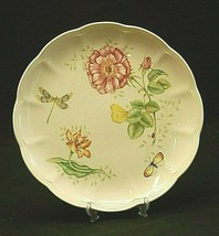 """Butterfly Meadow Dragonfly Lenox 10-7/8"""" Dinner Plate Butterflies Floral Accents - $26.72"""