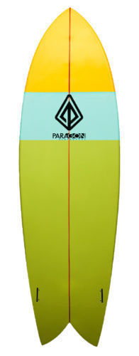 "Paragon Retro Fish 6'5"" Multi-Color Surfboard"