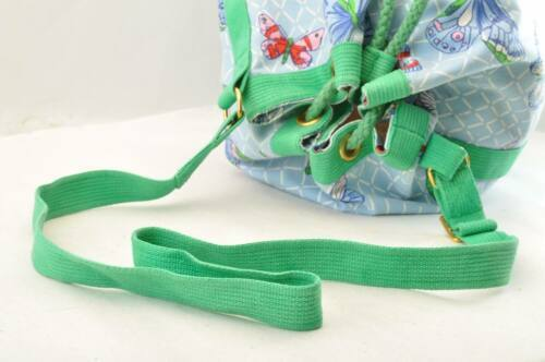 HERMES Shoulder Bag Cotton Blue Green Auth sa2173 image 7
