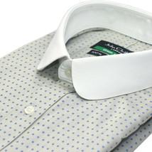 Men Peaky Blinder shirt Banker Club collar Penny Round collar Gewy Blue ... - $36.90