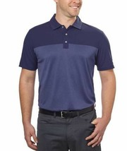 NEW Bollé Men's Colorblock Performance Polo, Dark Blue
