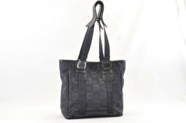 Salvatore Ferragamo Gancini Satin Tote Bag Black Auth ar357 - $120.00