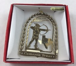 Nations Treasures Cameron Texas CH Yoe High School Brass Metal Souvenir Ornament - $15.00