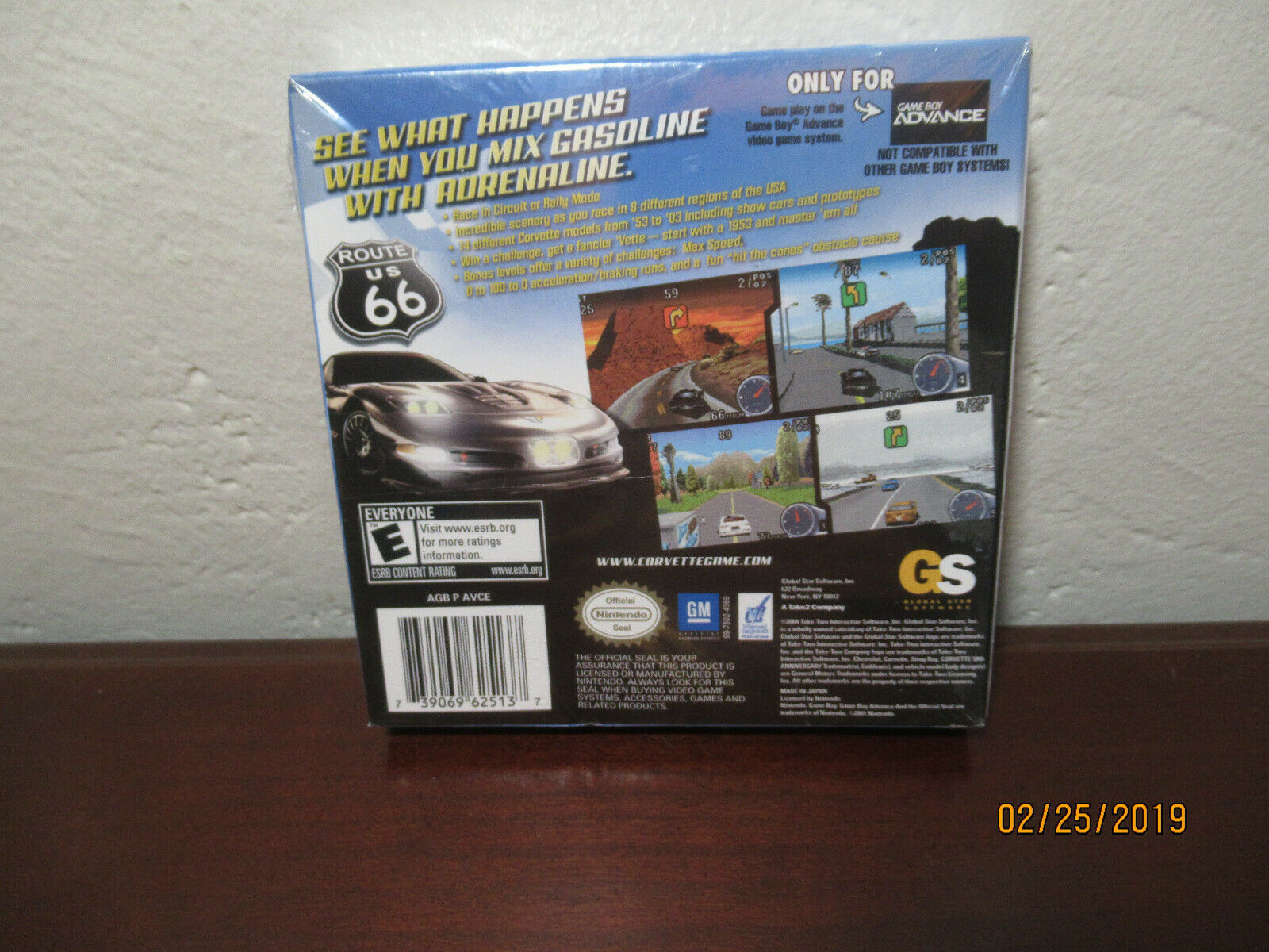 Corvette (Nintendo Game Boy Advance, 2003) NEW SEALED