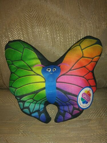 "Primary image for Nanco Butterfly Plush Rainbow NWT Multicolor 7"" Ages 3+ PL-BUTT6 2012 Made In..."