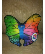 """Nanco Butterfly Plush Rainbow NWT Multicolor 7"""" Ages 3+ PL-BUTT6 2012 Ma... - $9.89"""
