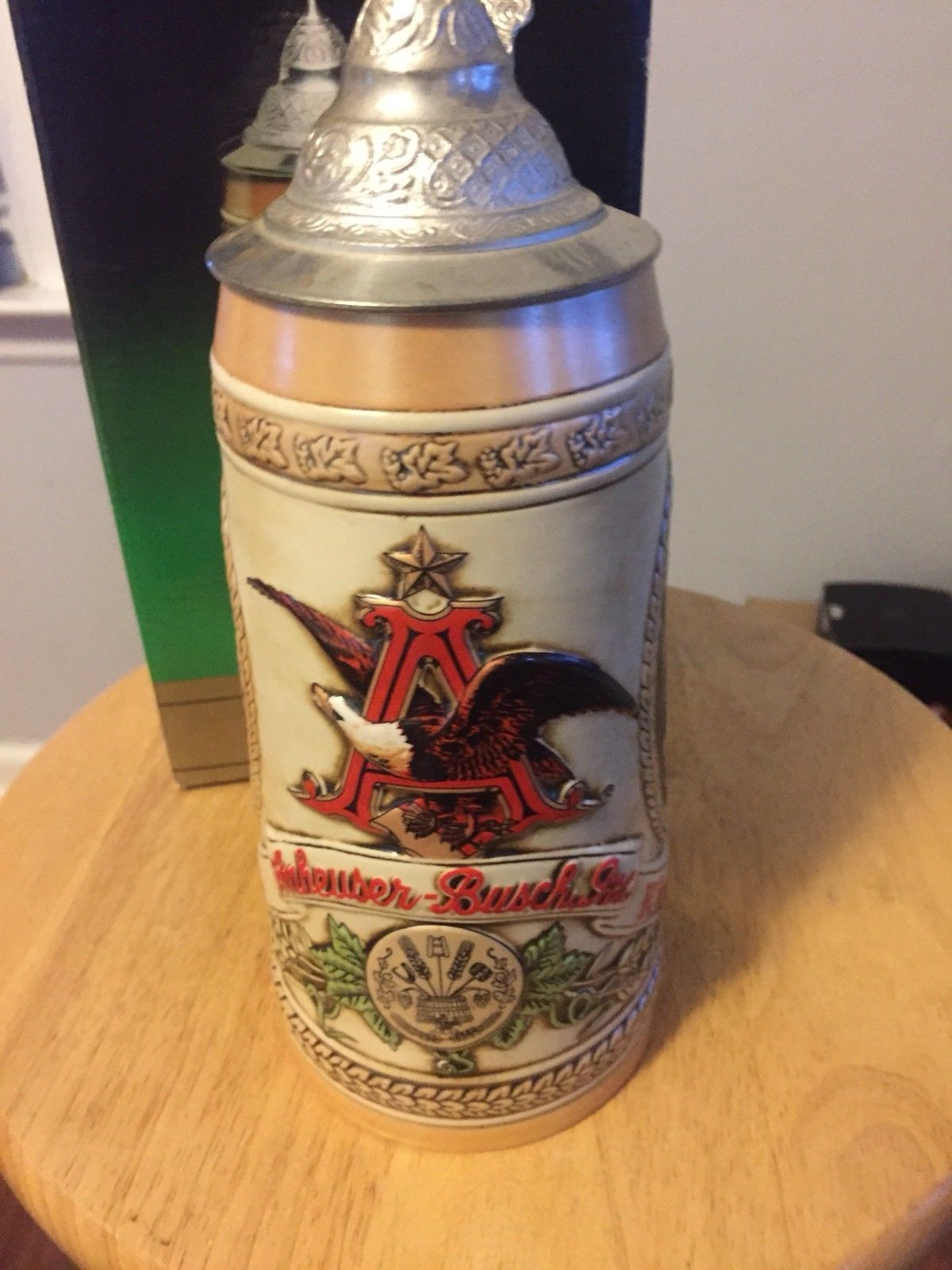 Budweiser TOMORROW'S TREASURES Series D Lidded Stein II Cooperage