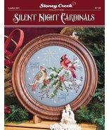 Silent Night Cardinals L321 christmas cross stitch chart Stoney Creek - $7.20