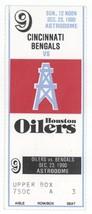 CINCINNATI BENGELS @ HOUSTON OILERS 12/23/90 Astrodome Ticket Stub! Texans - $10.09