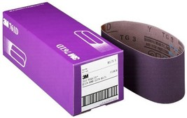"3M 81410 3"" x 24"" 50 Grit Purple Cloth Sanding Belts (761D) - 5 Belts pe... - $33.76"