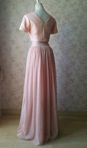 Gold BLUSH SEQUIN TOPS Short Sleeve Sequin Crop Tops Wedding Bridesmaid Top Plus image 2