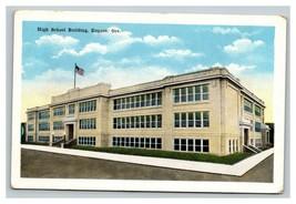 Vintage EC Kroop Postcard Eugene Oregon High School Building UNPOSTED - $8.88