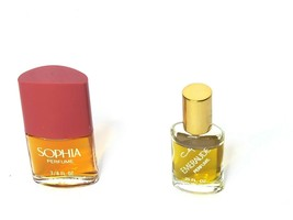 Coty Vintage Perfume 2 Piece Lot Sophia 3/8 fl oz & Emeraude .25 fl oz 1... - $30.46