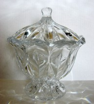JG Durand Calliope Crystal Covered Candy Dish 8.5 Inches Tall - $19.99