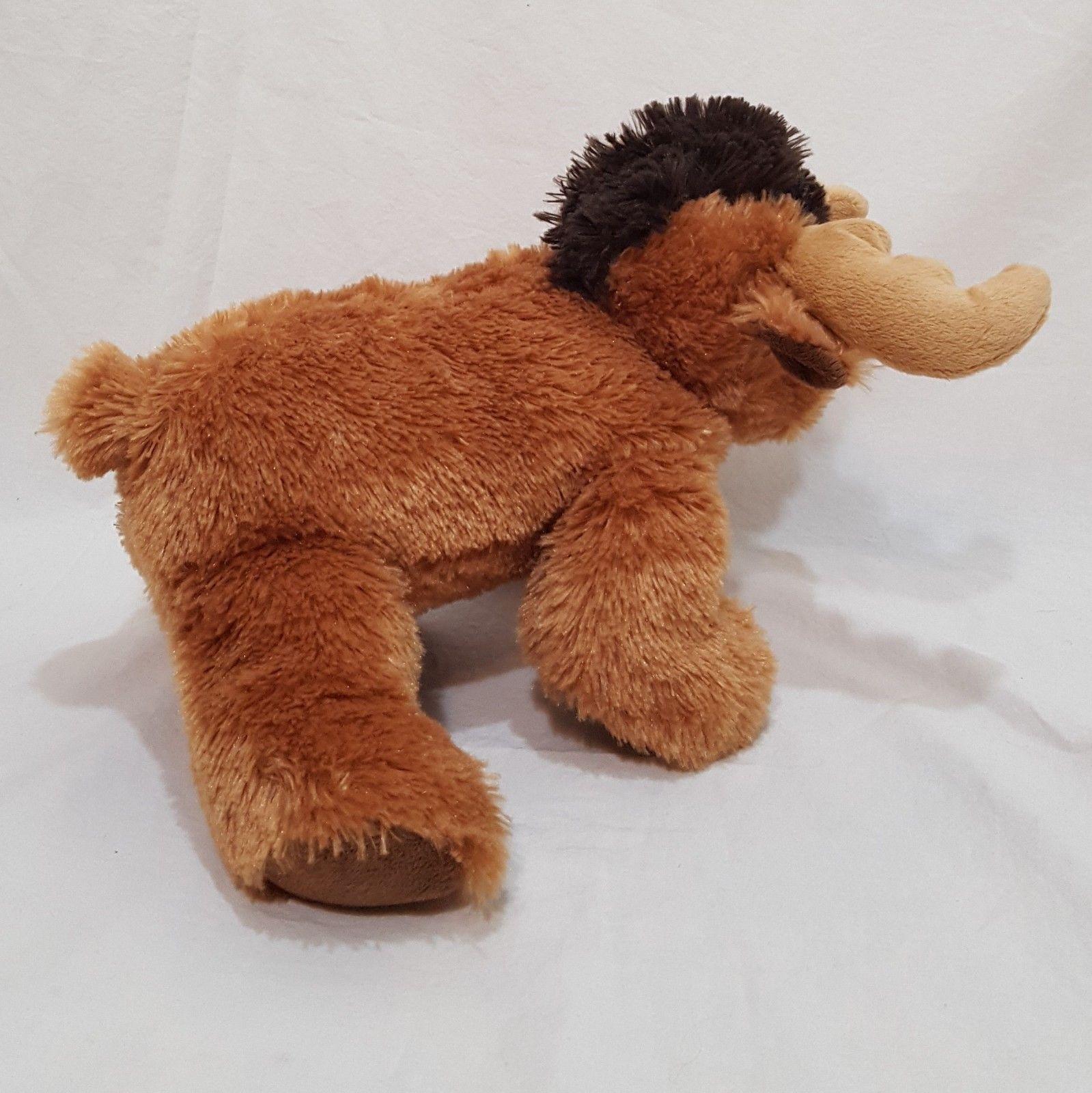 "Moose Brown Bean Bag Plush Stuffed Animal Toy 7"" Maple Leaf"