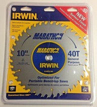 """Irwin 14070LWC 10"""" x 40T General Purpose Carbide Saw Blade New Surface F... - $16.83"""