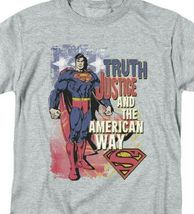 Superman T-shirt Truth,Justice & American Way retro DC comics tee SM1019 image 3