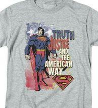 Superman T-shirt Truth,Justice  American Way retro DC comics tee SM1019 image 3