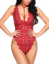 Sexy Lingerie Bodysuit Lace One Piece Babydoll Halter Teddy Lingerie S-XXL - $39.95